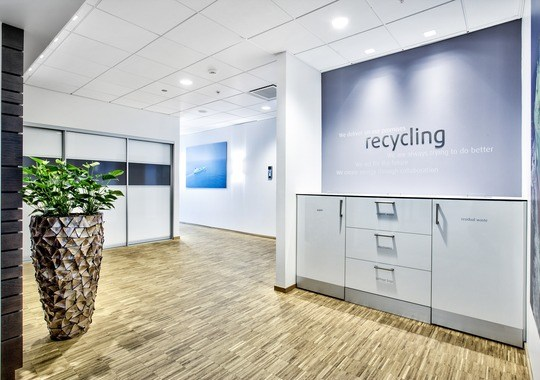 Dagens standard i kontorlokalene — resirkuleringsstasjon